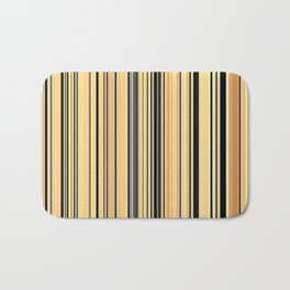 High Society Vintage Yellow Black White Stripes 001 - Corbin Henry Bath Mat