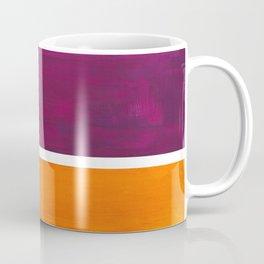 Purple Wine Yellow OchreMid Century Modern Abstract Minimalist Rothko Color Field Squares Coffee Mug