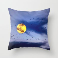 On a left along the moon and further to the east. Throw Pillow
