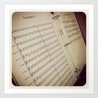 music notes Art Prints featuring Music Notes by BestSimpleJourney