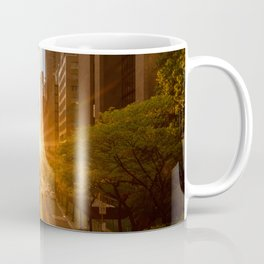 ManhattanHenge - sun setting along 42nd Street Coffee Mug