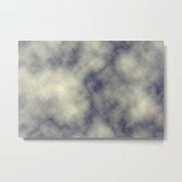 Yellow marble Metal Print