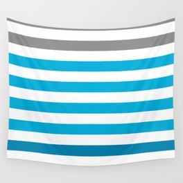 Stripes Gradient - Blue Wall Tapestry
