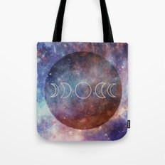 Moon Phases Rose Gold Mandala Tote Bag