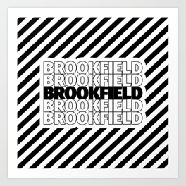 Brookfield USA CITY Funny Gifts Art Print