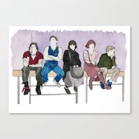 breakfast club Canvas Prints featuring The Breakfast Club by DJayK