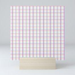Almost plaid Mini Art Print