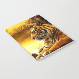Tiger and Sunset Notebook