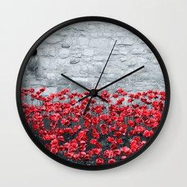 Tower Poppies 02B Wall Clock