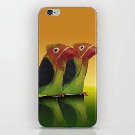 Couple of lovebirds iPhone Skin