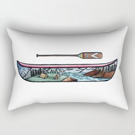 Scenic Canoe Rectangular Pillow