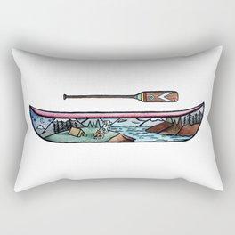 Scenic Canoe Rectangular Pillow