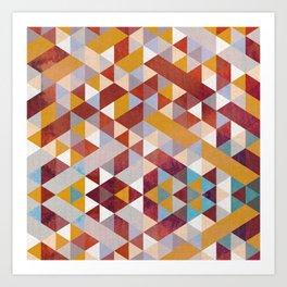 Triangles Circus Quadrado Art Print
