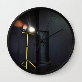 Garage Lights on Stage Wall Clock