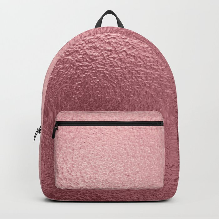 Pure Rose Gold Pink Backpack