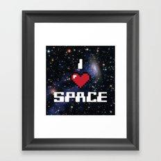 I Heart Space Retro Galaxy Framed Art Print