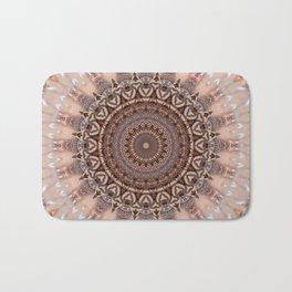 Mandala romantic pink Bath Mat