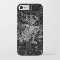 kansas city iPhone & iPod Cases featuring Kansas City map by Line Line Lines
