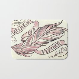 Birds Of A Feather Bath Mat