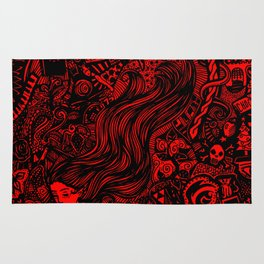 Massive Doodle- Red Version Rug