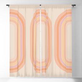 Tangerine Tunnel Blackout Curtain