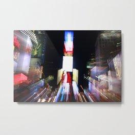 Drunken Times Square Metal Print