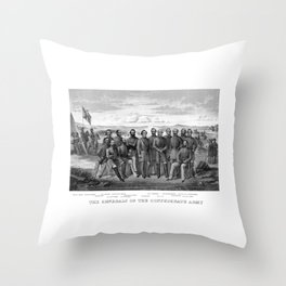 The Generals Of The Confederate Army Throw Pillow