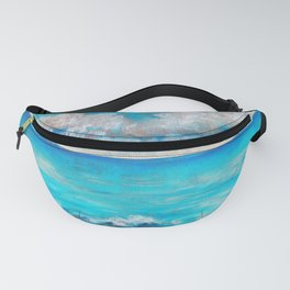 Blue sea and blue sky pastel landscape Fanny Pack