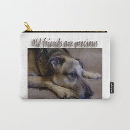 Old Friends Are Precious Carry-All Pouch
