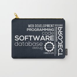 Programmer: Typography Programming Carry-All Pouch
