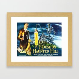 House on Haunted Hill, vintage horror movie poster Framed Art Print