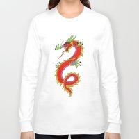 dragon Long Sleeve T-shirts featuring dragon  by mark ashkenazi
