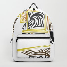 Dump Truck Tribal Backpack