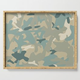 Camouflage military background Serving Tray
