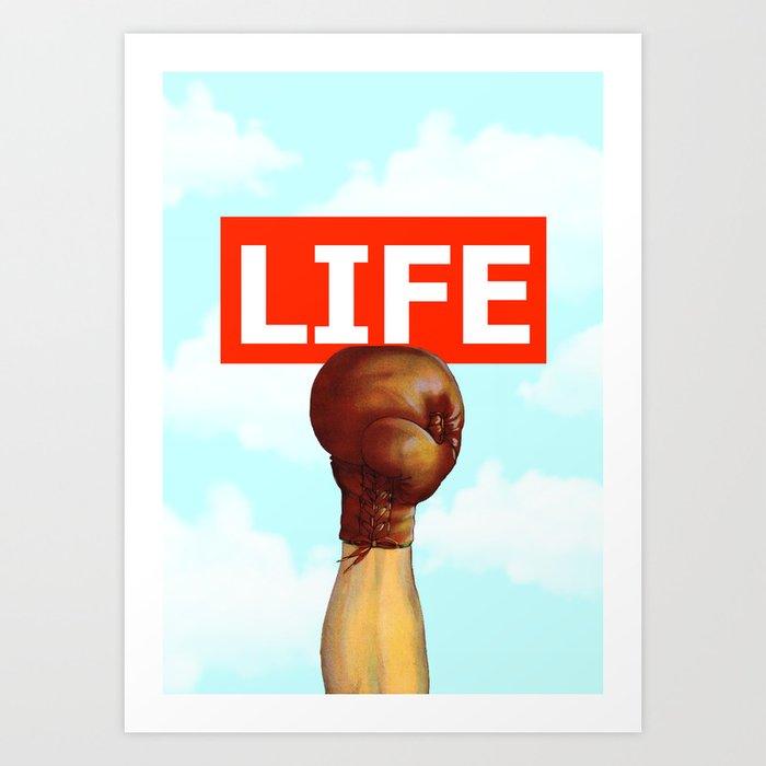 kick life back Art Print