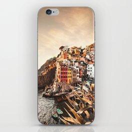 riomaggiore at cinque terre iPhone Skin