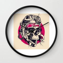 Skull Pilot Wall Clock
