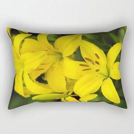 Yellow Lilies Rectangular Pillow