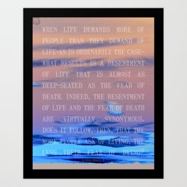 livingFEARdying Art Print