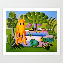 Classical Masterpiece 'A Cuca' by Tarsila do Amaral Art Print