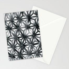 Charcoal Asanoha Stationery Cards