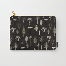 trees pattern Black edition Carry-All Pouch