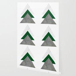 Marble Green Concrete Arrows Collage Wallpaper