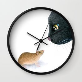 Cat 604 mouse Wall Clock
