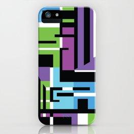 Purple Geometric iPhone Case