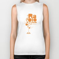 "radiohead Biker Tanks featuring Radiohead ""Last flowers"" Song / Orange version by LilaVert"