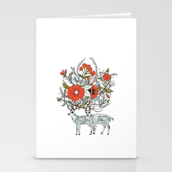 we were together Stationery Cards