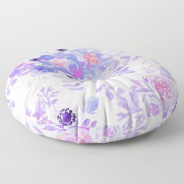 Lilac lavender violet pink watercolor elegant floral Floor Pillow