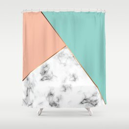 Marble Geometry 056 Shower Curtain