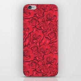 Vintage roses pattern iPhone Skin